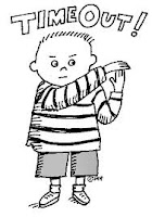 cartoon of child saying time out