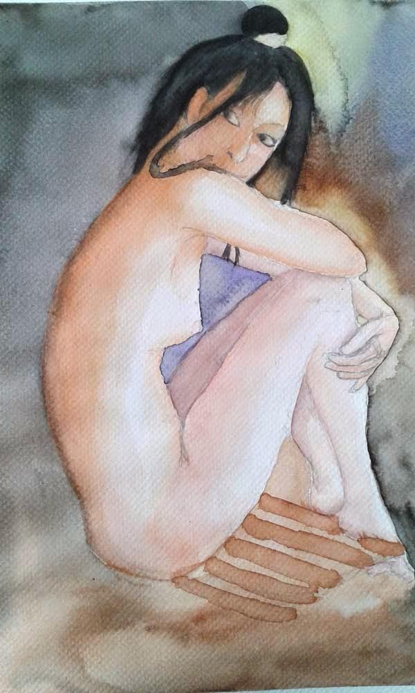watercolor nude