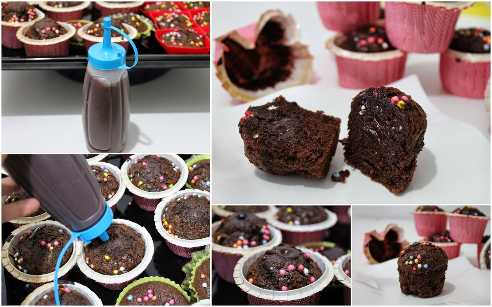 ganaj dolgulu kakaolu muffin