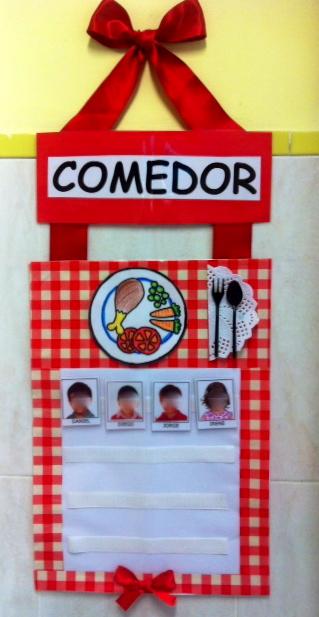 Se orita gominola cartel de comedor for Puertas decoradas para guarderia