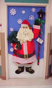 Ideas para el maestro decoraci n de puertas navide as for Puertas decoradas santa claus