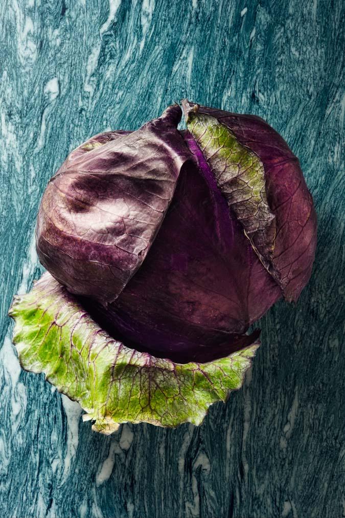 cavolo rosso red cabbage still life