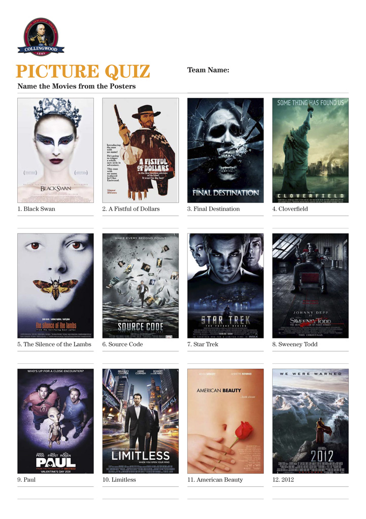 Movie posters quiz