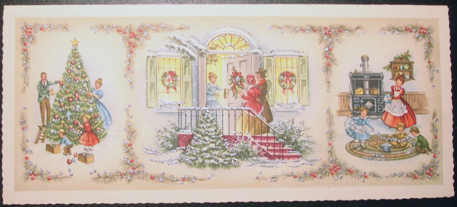 The Paper Compass Nostalgia Vintage Christmas Card