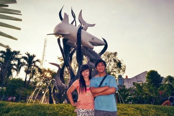 Patung  Suro & Boyo yang menjadi Ikon Kota Surabaya