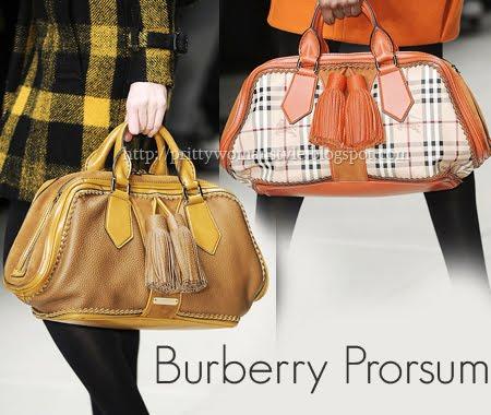 големи чанти с къси дръжки Burberry Prorsum
