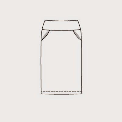 Burda 9/2007 #128 pencil skirt
