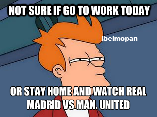 Real Madrid vs. Manchester United [MEME]
