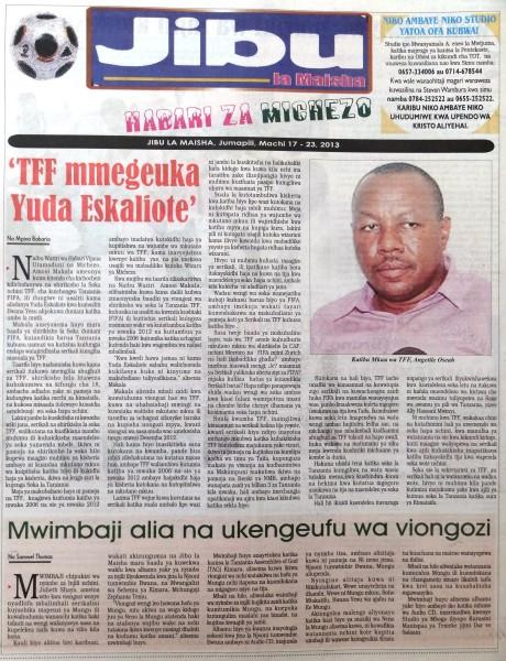 Gazeti La Mwananchi Habari MPYA