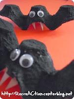 activités manuelles boite oeuf halloween chauve-souris
