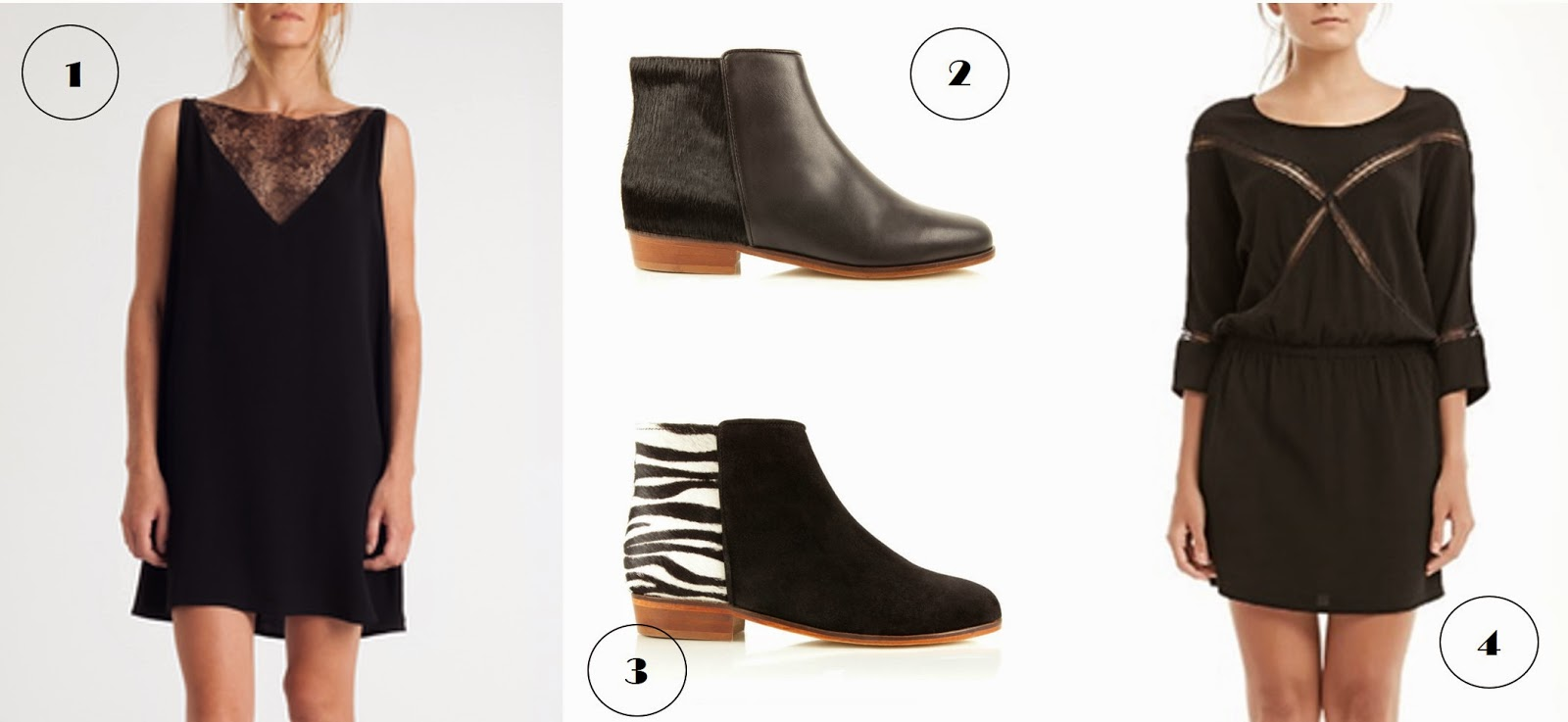 robes dentelle Lulu Yasmine, low boots Bobbies bi-matière sauvageonne