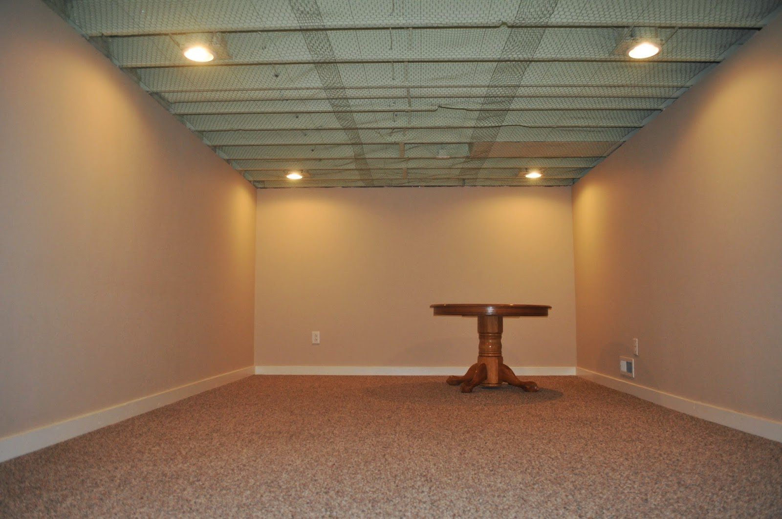 Carri us home painting a basement ceiling for Basement options