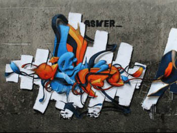 graffiti 3d alphabet letter by ASKER design