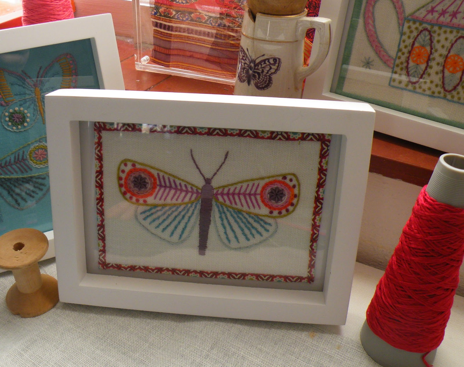 Use these butterflies on a garment or as a sampler or singly as a small framed gift
