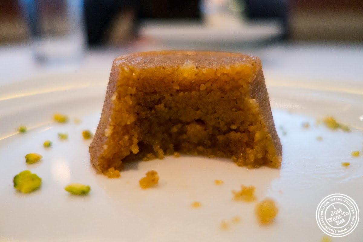 image of khubani halwa at Tamarind, Indian cuisine, in Tribeca, NYC, New York