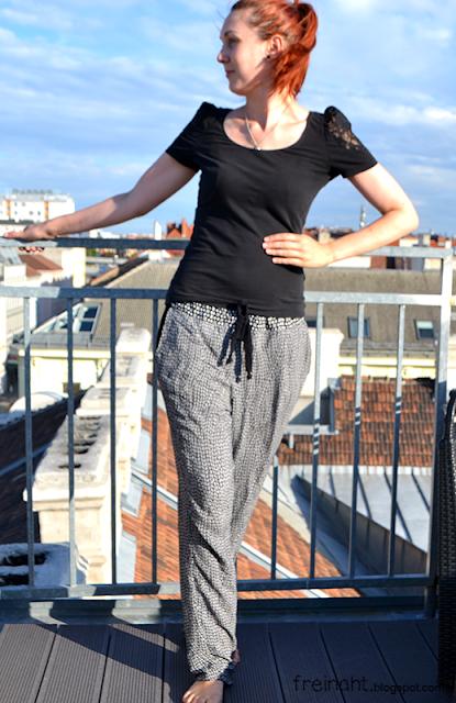 Sommerhose | Slouchy Pants | freinaht.blogspot.com