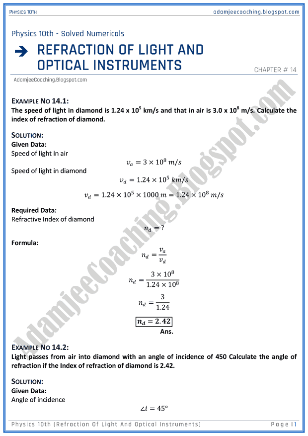 refraction-of-light-and-optical-instruments-solved-numericals-physics-10th