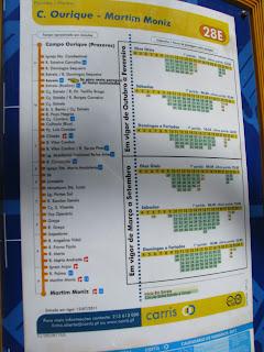 Cartel del recorridoo del Tranvía 28