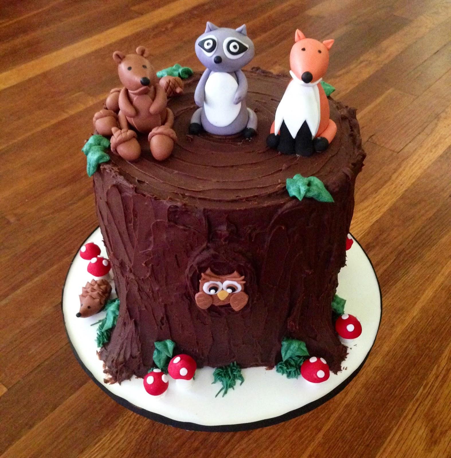 St Birthday Woodland Cake