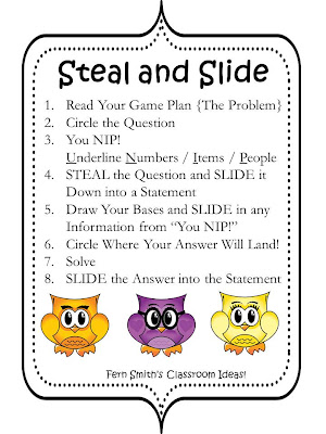 Fern Smith's FREE Steal and Slide Test Prep Presentation and Printable - Subtraction Resource
