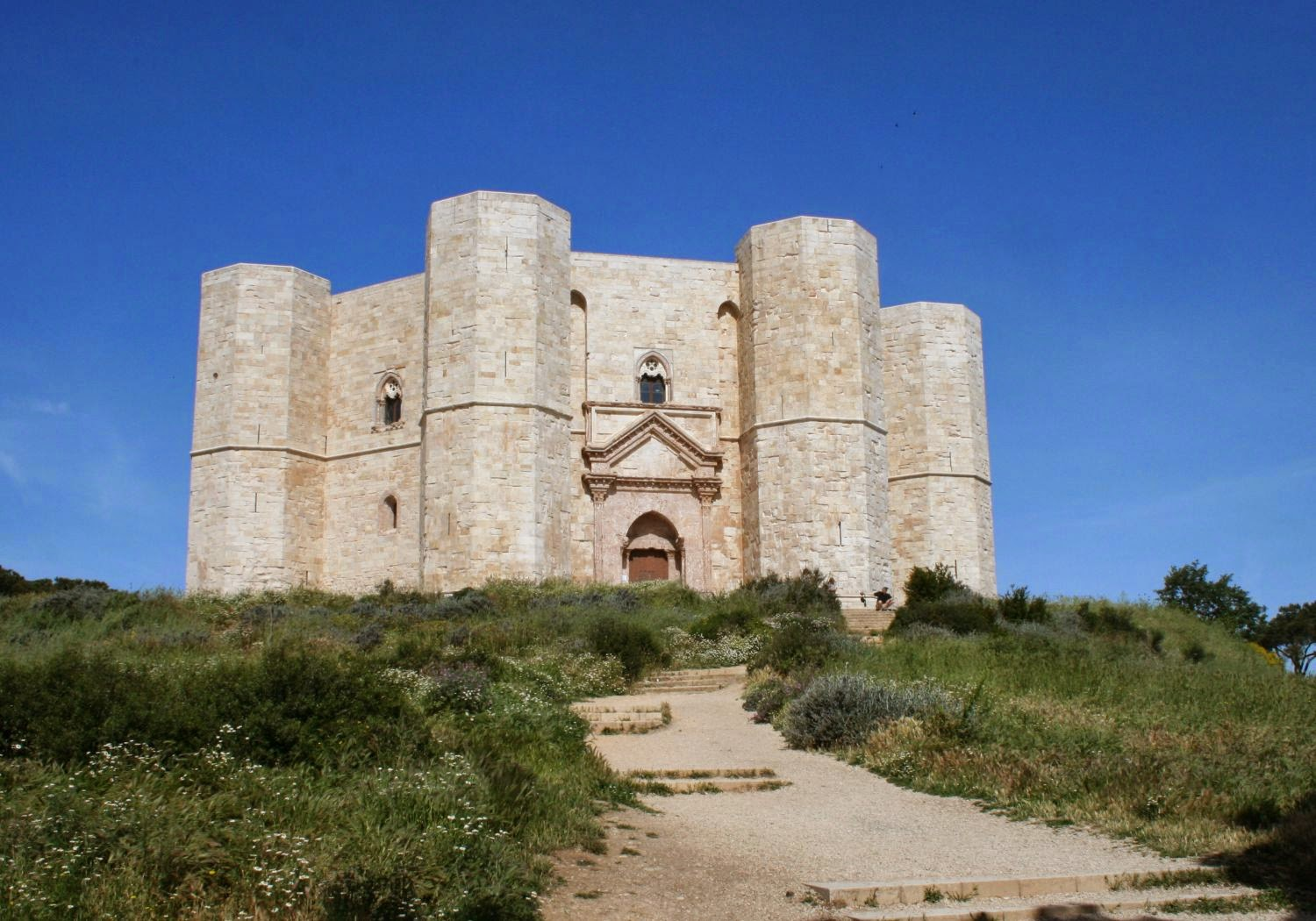 Castel del Monte is a fortress located close to Andria