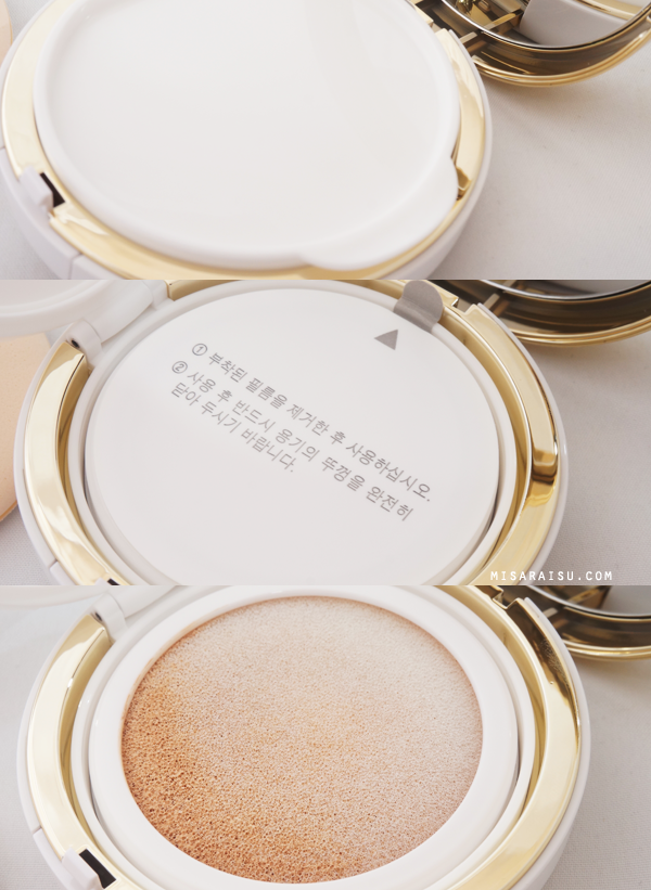 w.lab honey beam korean cushion makeup