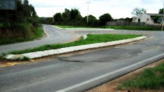 Trevo de acesso a São Gabriel (RS).