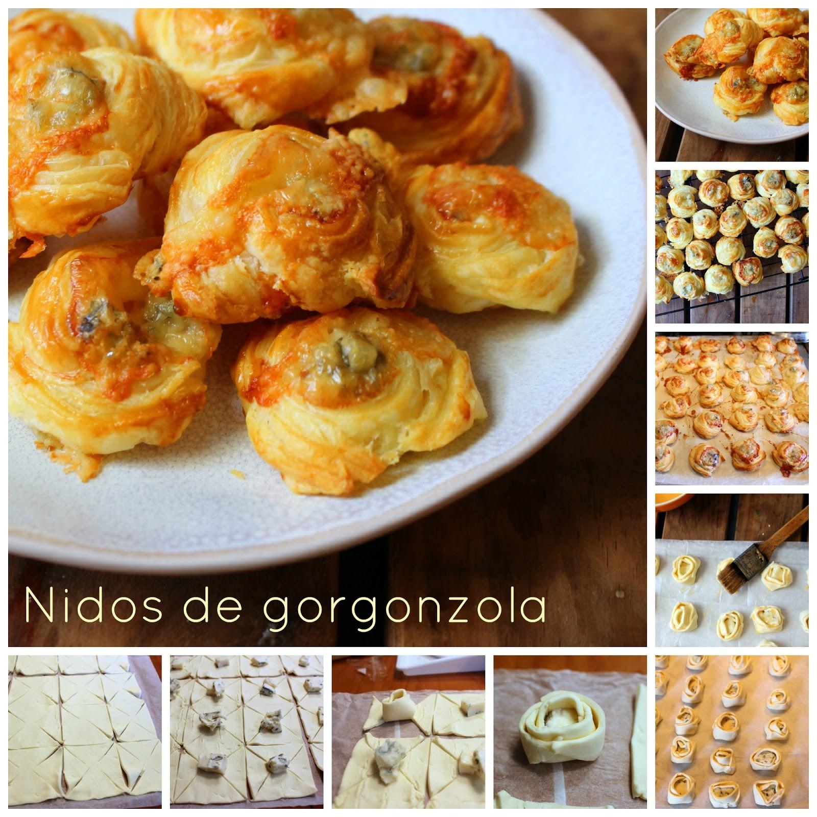 El fest n de marga nidos de gorgonzola aperitivos - Como hacer aperitivos frios ...