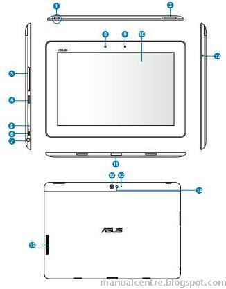 ASUS Transformer Pad Infinity TF700T Layout
