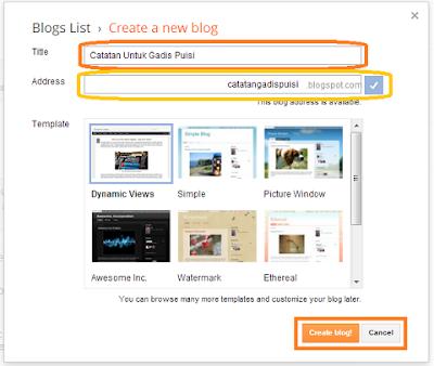 cara membuat blog lengkap beserta gambar 2013, cara bikin blog, panduan membuat blog di blogspot, cara bikin blog dengan cepat dan mudah, dammar-asihan.blogspot.com, Apa Itu Blog Dan Cara Membuatnya.