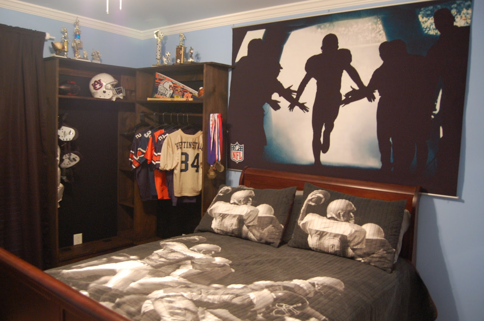inspirational football themed bedroom ideas with