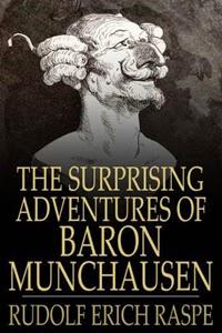 Portada inglesa de El barón de Munchausen, de Rudolf Erich Raspe