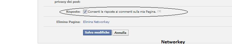 commenti pagine facebook