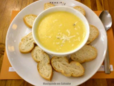 Pereira Café: Sopa de Mandioquinha com Camarão