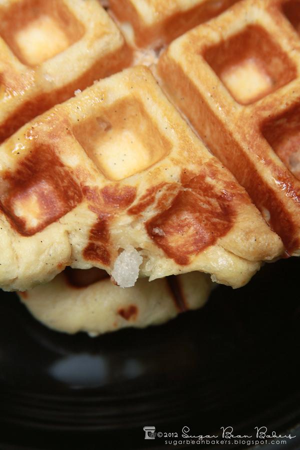 Sugar Bean Bakers: { Vanilla Bean Liege Waffles }