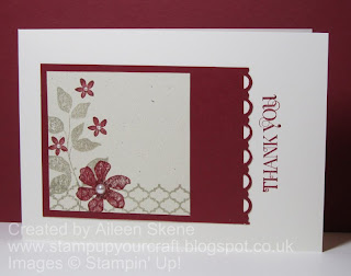 Stampin up Summer Silhouettes collage on Natural Ivory with Cherry Cobbler