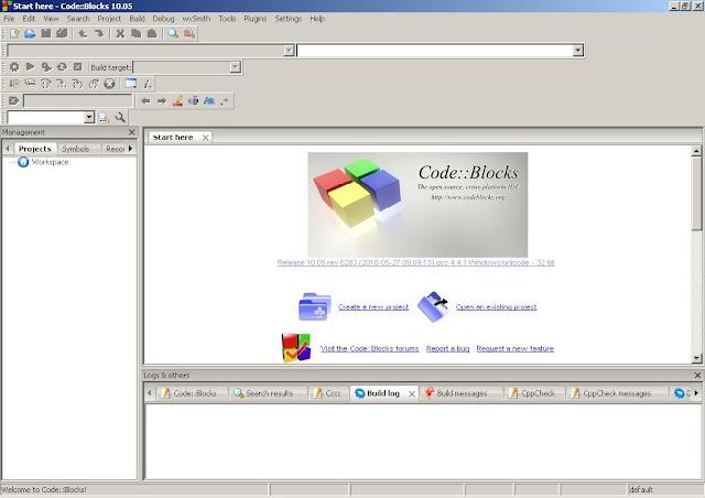 Code::Blocks open window