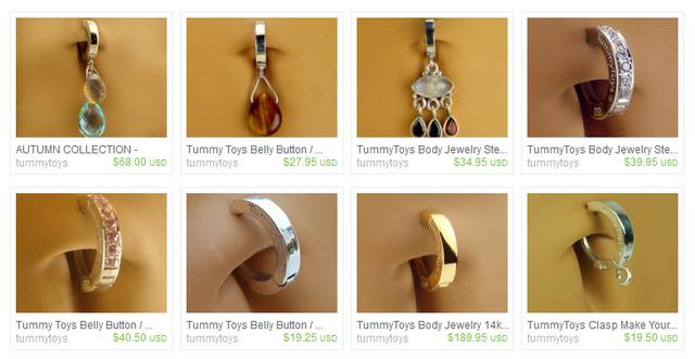 Fake Belly Button Rings