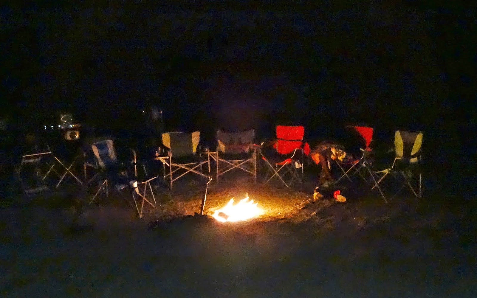 The Chairs Around The Campfire Quickly Emptied As Everyone Converged For A  Look At Our Eight Legged Visitor. Ethan Had Dug An Excellent Campfire Pit  And ...