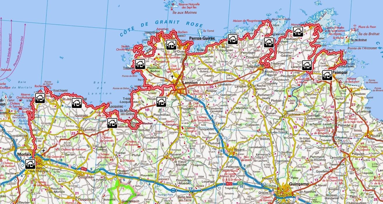 Le Marcheur Français: GR 34, sentier des douaniers en Bretagne