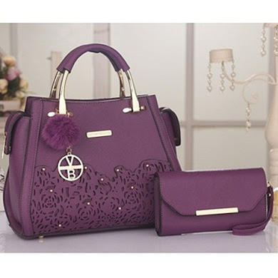 VICTORIA BECKHAM DESIGNER BAG - PURPLE