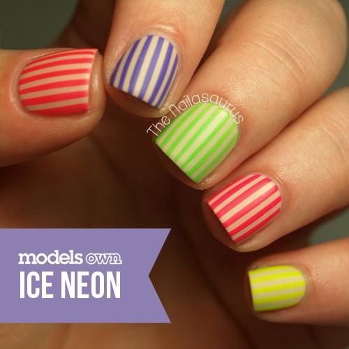 Neon Nail Polish Uk: Models Own Ice Neons - The Nailasaurus