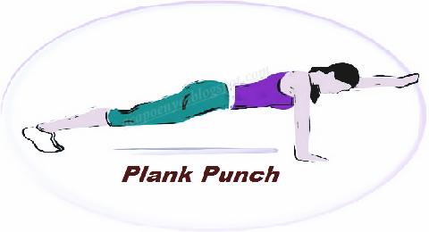 Plank Punch Pelangsing Tubuh