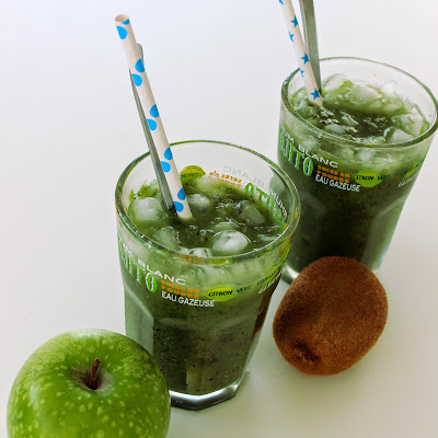 Illustration Smoothie Granny - Kiwi & Spiruline