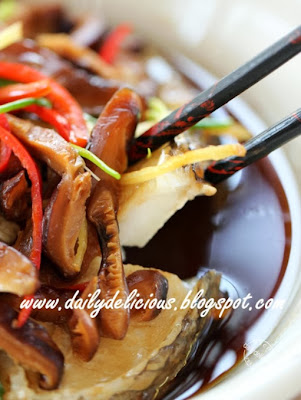 Steamed Gindara fish with soy sauce