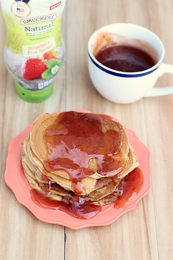 Peanut Butter and Jelly Swirled Pancakes - Whats Cooking Love?
