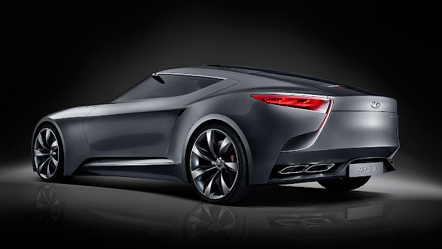 Hyundai luxury sports coupe concept HND-9 rear side