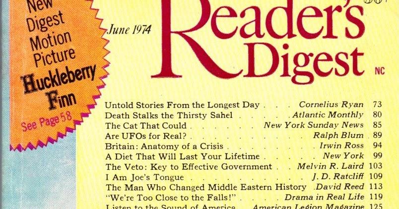 Reader's Digest June 1970 Alcoholism Milton Friedman James A. Michener +++