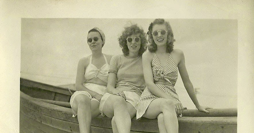 Pretty Maids All In A Row C 1940s Vintage Everyday