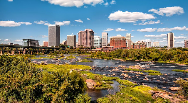 skyline of Richmond Virginia